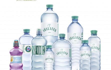 """Vöslauer: Umstellung aller """"ohne"""" PET-Flaschen auf 100% rePET"""