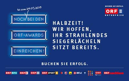 Halbzeit im Match um die ORF-AWARDS