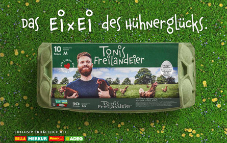 Merlicek & Partner relaunchte Tonis Freilandeier