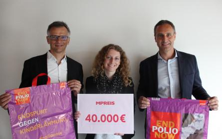 MPreis spendet 40.000 € aus Tragetaschen-Aktion