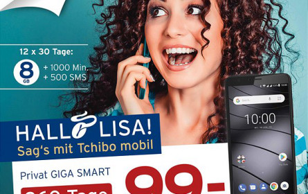 Neuer Tchibo mobil-Tarif mit gratis Gigaset Smartphone