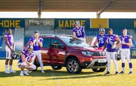 Kreativer Touchdown für Dacia: Virtue startet Fan-Aktivierung im Football-Stadion