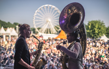 Lidl mit Festival-Filiale beim Woodstock der Blasmusik
