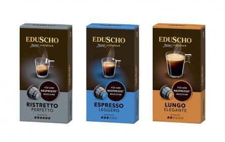 Eduscho präsentiert neue Kapselsorten für Nespresso