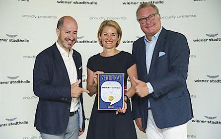 """Wiener Stadthalle erneut mit renommiertem """"Marken-Oscar"""" ausgezeichnet"""