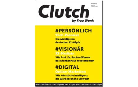 Knallgelbe KI-Ausgabe von Clutch erscheint