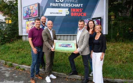 Innsbruck und Epamedia feiern Jubiläum und verlängerten Partnerschaft um sieben weitere Jahre