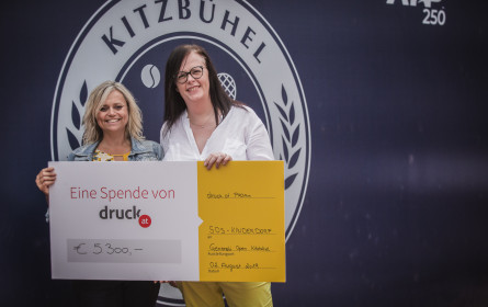 druck.at spendet 5.300 € an SOS-Kinderdorf Imst