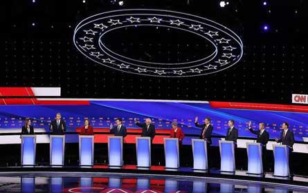 TV-Debatte zwischen Präsidentschaftsbewerbern der US-Demokraten