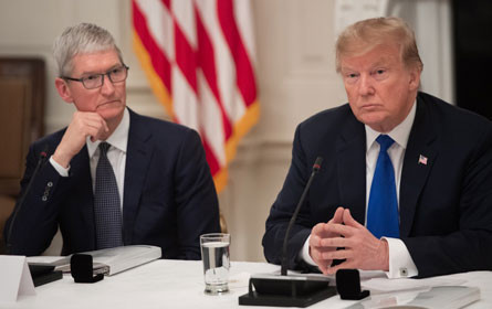 Trump: Apple-Chef besorgt über Wettbewerbsnachteil durch US-Zölle