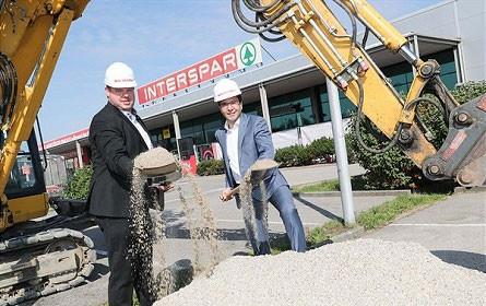Interspar: Spatenstich in Braunau
