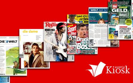 Titelzuwachs in der FreeLounge von Österreichs größtem digitalen Zeitungsstand