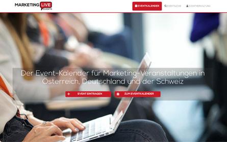 MarketingLive.Events: Neue Plattform bietet Überblick über relevante Events im Marketingbereich im D-A-CH-Raum