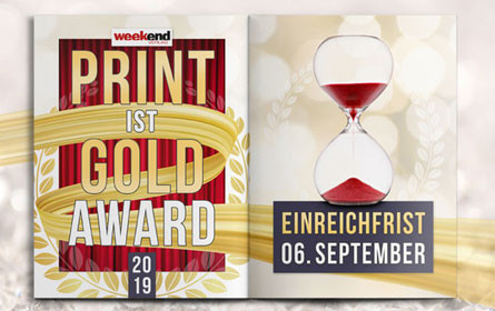 "Der Weekend ""Print ist Gold-Award 2019"""
