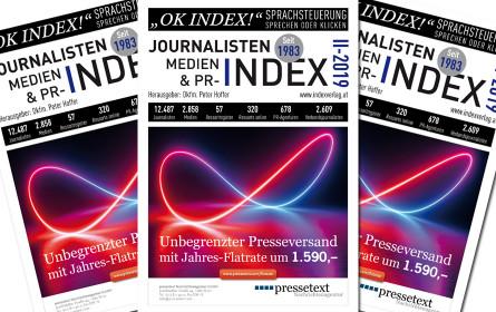Journalisten-, Medien- & PR-Index 2019 Ende September Ausgabe erschienen