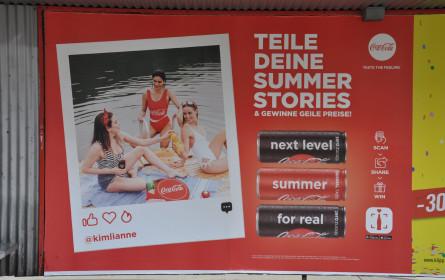Out-of-Home Champions: Coca-Cola werbestärkste Sujet vor WinWin