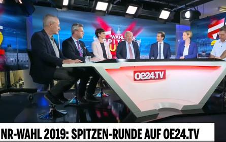 Neuer Rekord für oe24.TV: 140.000 Zuseher bei Elefantenrunde