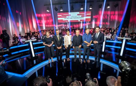 Die Privat-TV-Elefantenrunde erreichte mehr als 1,1 Millionen Zuseher auf ATV, Puls 4 und Servus TV