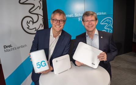 Drei: Verkaufsstart von schnellerem Internet für alle