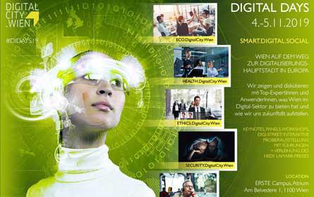 Digital Days 2019: Wien soll Digitalisierungshauptstadt in Europa werden