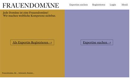 """Expertinnendatenbank """"Frauendomäne"""" wurde gelauncht"""