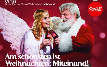 Coca-Cola-Weihnachtsaktion gemeinsam mit Caritas