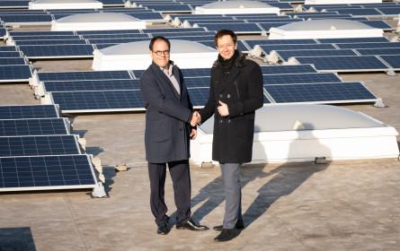 Energiewende mit Wien-Energie auf dem Metro Großmarktdach
