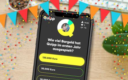 """Österreichs Nummer 1 Live-Quiz-App """"Quipp"""" feiert ihr einjähriges Jubiläum"""