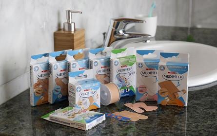 Neue Spar-Eigenmarke MediHelp bringt Pflaster für jede Lebenslage