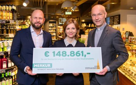 Merkur Kunden unterstützen den Stephansdom mit 148.861 Euro