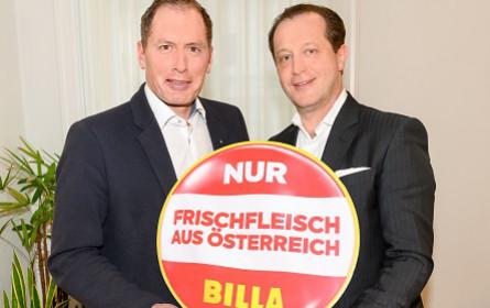 Billa stellt 2020 auf 100 Prozent österreichisches Frischfleisch und -geflügel um