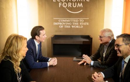 ABB-Führungsdelegation traf Bundeskanzler Kurz in Davos