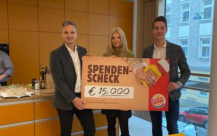 Burger King spendet durch Weihnachtskampagne 15.000 Euro an die Ronald McDonald Kinderhilfe