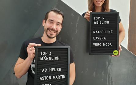 Die Top-Marken der österreichischen Jugend, Frauen und Männer