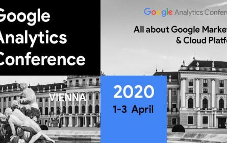 Die neunte Google Analytics Conference D-A-CH findet im April 2020 in Wien statt