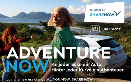 "Internationale ""Share Now""-Kampagne mit urbanem Lebensgefühl"