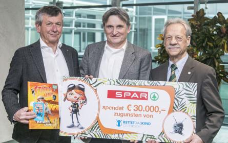 """Spar spendet 30.000 Euro für """"Rettet das Kind"""""""