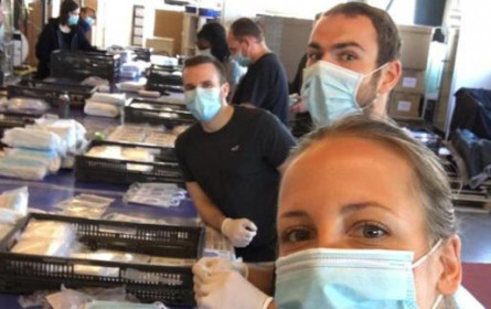 Nachtleben unterstützt den Handel: 283 Mitarbeiter und eine Million Masken