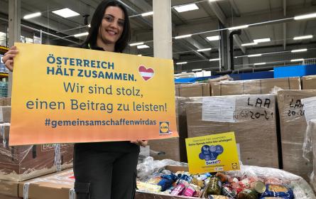 Lidl Österreich: Erfolgreiche Spendensammelwoche für Menschen in Not