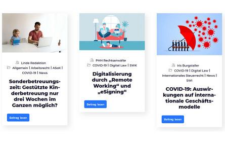 Infoseite des Linde Verlags zu Covid-19 bündelt Rechtsinformationen für Unternehmen unter einem Dach