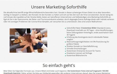 PantherMedia stellt Marketing-Soforthilfe für Unternehmen in Not zur Verfügung