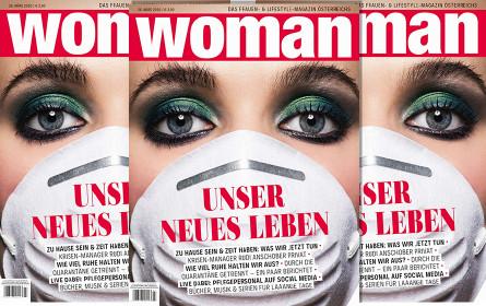"""""""Woman"""": Erstmals Frauenmagazin mit Maske am Cover"""