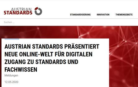Austrian Standards präsentiert neue Online-Welt
