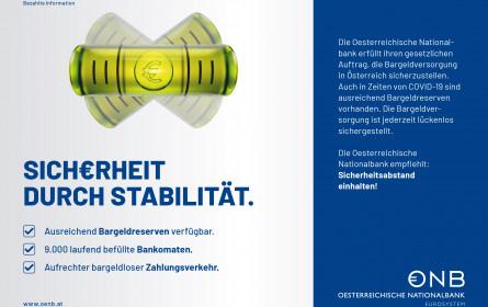OeNB-Kampagne: Stabil durch die Covid-19-Krise