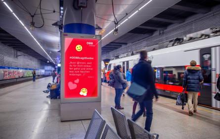 ÖBB Werbung setzt auf DOOH-System für Social Media Campaigning