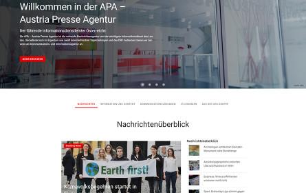 Relaunch des Online-Auftrittes der Nachrichtenagentur-Gruppe APA