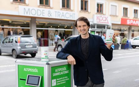 Altspeiseöl Recycling bei Spar