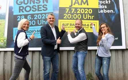 radio 88.6 sorgt mit neuer Plakatkampagne für Live-Feeling