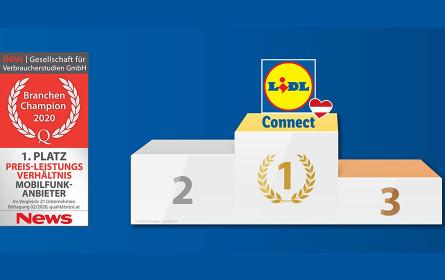 Lidl Connect ist Österreichs Testsieger bei Preis-Leistung