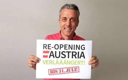 Re-opening Austria-Initiative geht in die Verlängerung